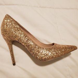 Steve Madden Gold Glitter Pumps